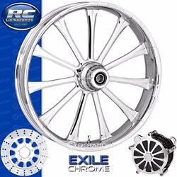 Rc Components Exile Chrome Custom Motorcycle Wheel Harley Touring Baggers 21
