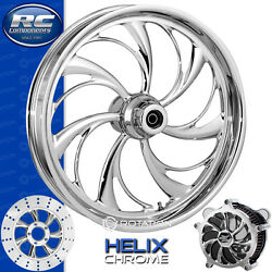 Rc Components Helix Chrome Custom Motorcycle Wheel Harley Touring Baggers 21