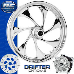 Rc Components Drifter Chrome Custom Motorcycle Wheel Harley Touring Baggers 21