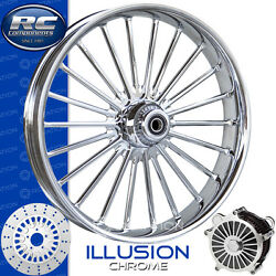 Rc Components Illusion Chrome Custom Motorcycle Wheel Harley Touring Baggers 21