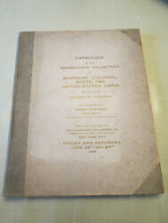 1918 Allison Jackman Auction By Henry Chapman Full Catalog W/prices Realized