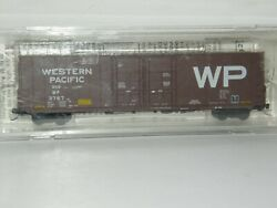 Micro Trains N Scale 102050 Western Pacific 3767 60' Box Car Excess Height