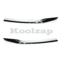 15-16 Crv Front Upper Grille Trim Grill Molding Chrome Left Right Side Set Pair