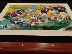Troy Aikman Cowboys Bills Super Bowl Leroy Neiman Serigraph Signed/numbered