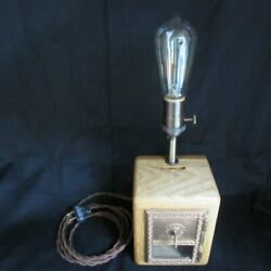 Post Office Box Bank Edison Table Lamps Reclaimed, Nostalgic, Vintage-style