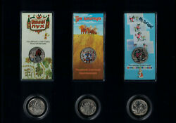 Russia 25 Rubles, A Set Of Coins Russian Soviet Animation 2017-2018, 6 Coins