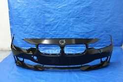 2012-2015 BMW 320 328 335 FRONT BUMPER COVER BLACK (REVIEW PICTURES)