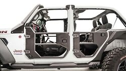 Fab Fours Jl1032-1 In Stock Half Tube Front Doors Jeep Jl / Jt