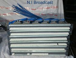 Package of 6x Ghielmetti audio jackfield patch panels prewired  with front links