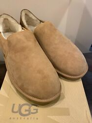 Brand New Ugg Suede Mens Shoes/slippers In Chestnut, Us Size 17