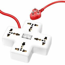 Electrical Extension Appucoco Plus Type 4 Sockets Multi Plug 3 Meter White Color