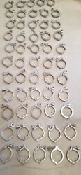Lot Of 3 Stainless Steel Tri-clamp Fittings 62 Clamps Is A 5 Gallon Bucket