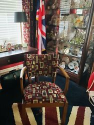 Cunard White Star RMS Queen Mary Chair from the Cabin Class Smoking Room