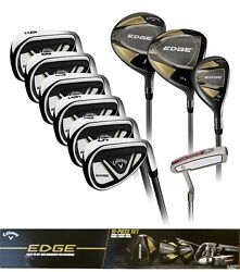 Callaway Edge 10-piece Menand039s Golf Club Set 10.5 Regular Right Or Left Handed ✅✅✅