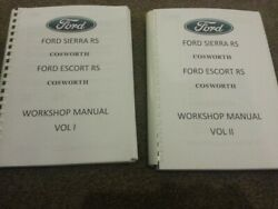 FORD ESCORT AND SIERRA RS COSWORTH SERVICE WORKSHOP MANUAL REPRINTED COMB BOUND