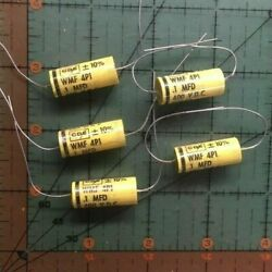 .1uf 400v Cornell Dubilier Axial Film Capacitor Wmf4p1 K 10 Polyester Audio 5pc