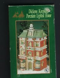 Dickens Keepsake Porcelain Lighted House,counter Houseand Old World Antiques