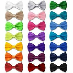 AVANTMEN 9 PCS Pre-tied Adjustable Men's Bow Tie for Boy in Gift Box Mixed Color