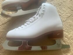 Riedell Ice Skates Women's Size 6.5 Medium, With John Wilson Blades And Case