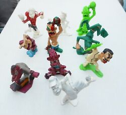 Set Of 10 Figures Vintage '63 Nutty Mads Louis And Marx