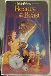 DISNEY Black Diamond Edition Beauty and the Beast VHS Rare Collectible 1325
