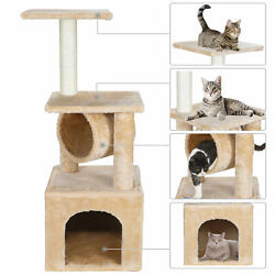 36 Inch Cat Tree Tower Activity Center Large Playing House Condo For Restandsleep