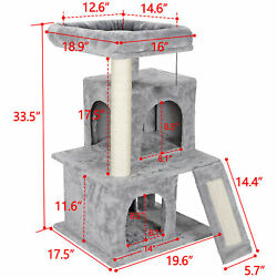 Cat tree Tower Great For Multiple Cats Scratcher Play House Condo Pet House 34quot;