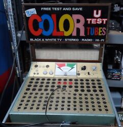 Vintage  Color Tv Tube Test Set Store Model  Local Inspection And Pick Up