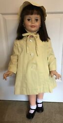 Vintage Girls 1950's Coat and Bonnet Yellow Fits Patty PlayPal $24.99