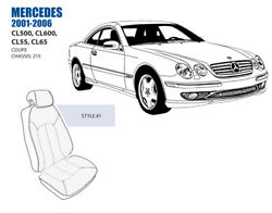 Mercedes Cl Front Seat Cover Set 2001-06 Oem New