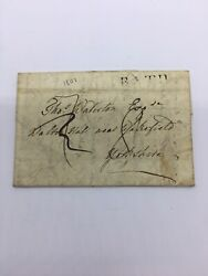 Us Stampless Folded Letter 1801 Bath Lebanon Yorkshire Pa Readable Stamp