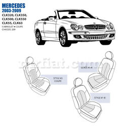 Mercedes Clk Front Leather Seat Cover Set 2003-09 Oem New