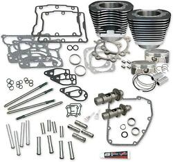 S AND S CYCLE KIT 106W/O HDS BLK 07-17 900-0354