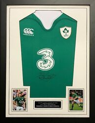 Brian O'Driscoll Hand Signed Ireland Rugby Union Shirt FRAMED