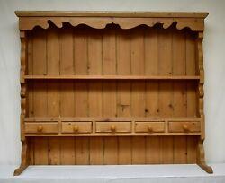Vintage Pine Open Rack Of Shelves And Spice Drawers Only