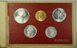1948 Vatican Rome Gold And Silver Mint Set Ogp