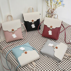 Women Faux Leather Mini Shoulder Bags Crossbody Bags Clutches Bags Tote LD $7.50