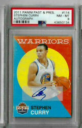 2011 Panini Past And Present Stephen Curry Auto Psa 8