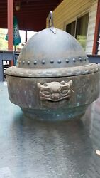 Haunted copper Pagan Wiccan Cauldron antique vintage chinese tea caddy