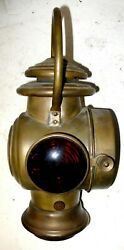 Dietz Brass Bale Handle Oil Tail Lamp - Model T Ford Buick Haynes Stanley Sears