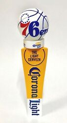 Corona Light Phila 76ers Tap Handle + Crown Top - New In Box And Free Ship - Short