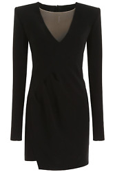NEW Dsquared2 mini dress with v neck S72CU0954 S48427 Black AUTHENTIC NWT