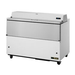 True Tmc-58-ss-hc Forced Air White Exterior And Stainless Interior Milk Cooler