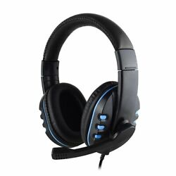 Stereo Gaming Headset Headphone Wired With Mic For Pc Xbox One Ps4 Ps3
