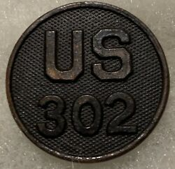 Rare Original Us Army 302nd Infantry Enlisted Collar Disc Salty Used
