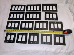 15 Qty Bulk Lot Heavy Metal Contemporary Black Metal Light Switch Plate Cover
