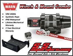 2500lb Warn Vrx 25-s Winch Mount Combo Yamaha Grizzly 660 2002-2008