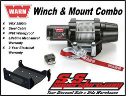 3500lb Warn Vrx 35 Winch Mount Combo Yamaha Grizzly 660 2002-2008