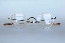 OLIVER PEOPLES AMORY 18K GOLD ROUND GLASSES LIMITED EDITION BRAND NEW