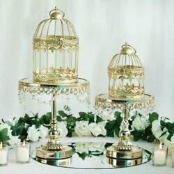Gold 8 Metallic Bird Cages Wedding Birthday Party Centerpieces Home Decorations
